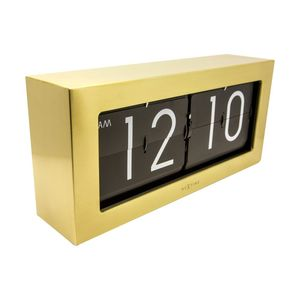 Nextime Big Flip Wall Clock Gold