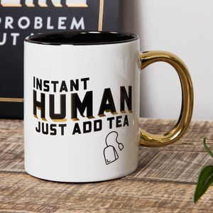Harvey Makin Brewmaster Stoneware Instant Human Just Add Tea Mug
