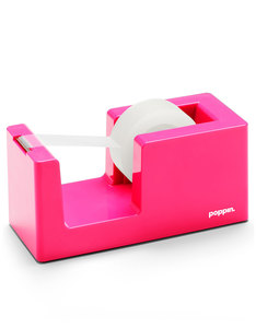 Poppin Inc Tape Dispenser & Tape Pink
