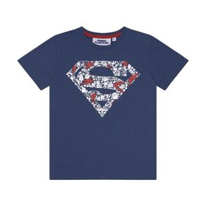 DC Comics Superman Raised Logo Kids T-Shirt Navy