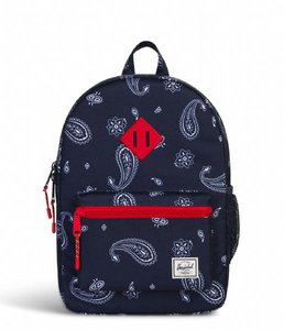 471ef332a25c Herschel Heritage Youth Bandana Paisley Peacoat Barbados Cherry Backpack