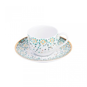 Silsal Mirrors Espresso Cup And Saucer  Emerald Green