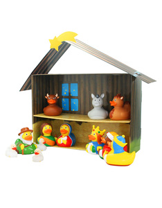 Lilalu Duck Nativity Scene [12 Ducks & Crib]