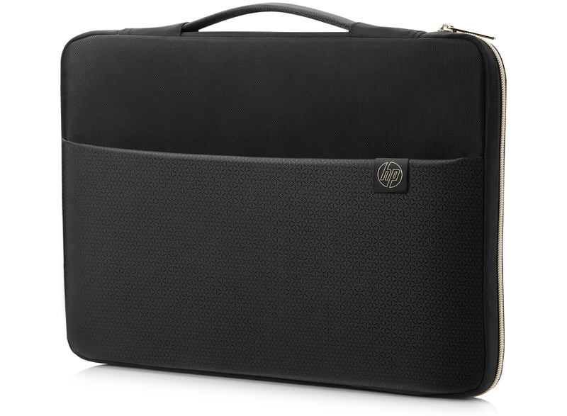HP Carry Sleeve Black/Gold Fits Laptop up