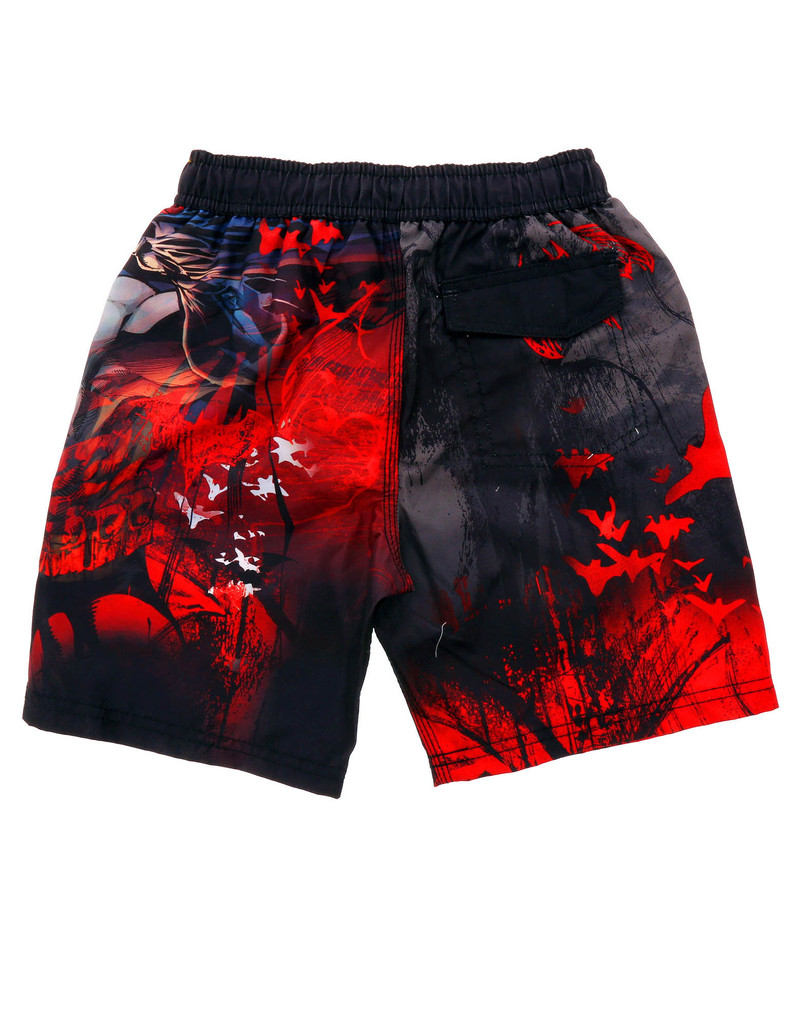 Batman Swimshorts Toddlers Black/Red 4