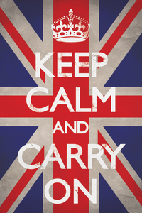 Keep Calm And Carry On Union Jack Maxi Poster [61 x 91.5 cm]