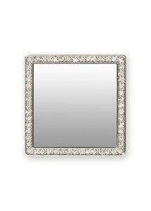 iDecoz Silver Square with Crystals' Mirror for Smartphones