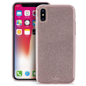 PURO SHINE PC/TPU CASE ROSE GOLD FOR IPHONE X