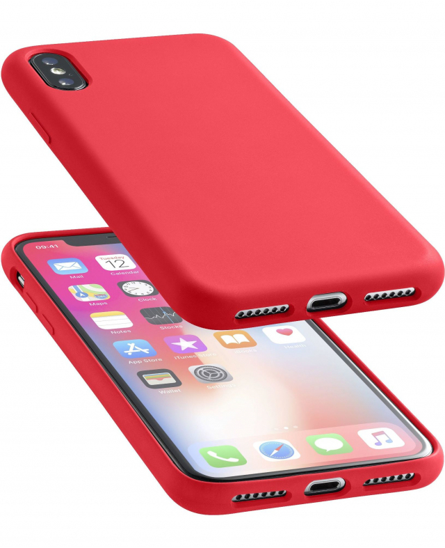 separation shoes 70fb3 20732 Cellular Line Soft Touch Case Red For iPhone X