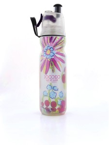 O2Cool Insulated ArcticSqueeze Mist 'N Sip Flowers [1] 590ml Water Bottle