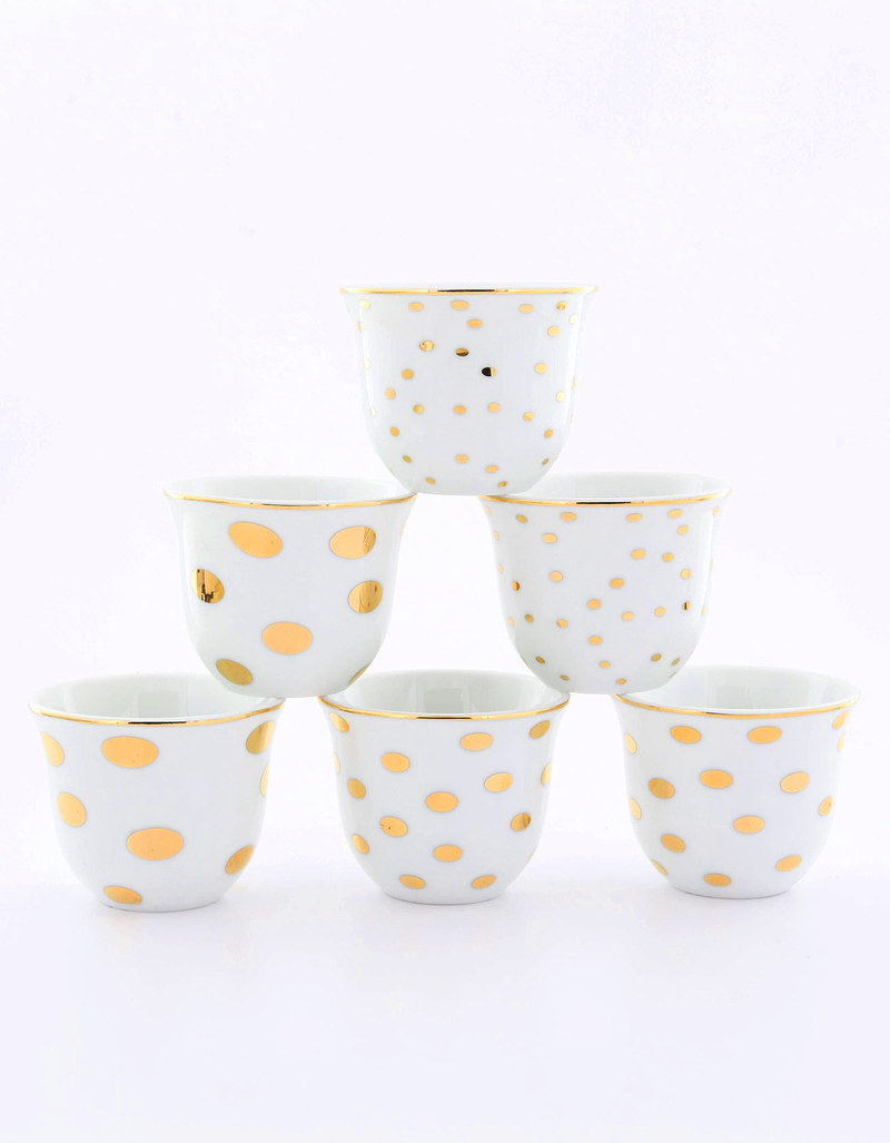 Rosanna Dots Chaffe Cups [Set of 6]