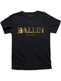 Alex & Chloe Ballin Paris Black/Gold Unisex T-shirt