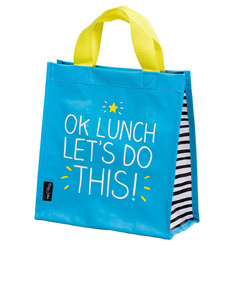 Happy Jackson Ok Lunch Let'S Do This Blue Handy Tote