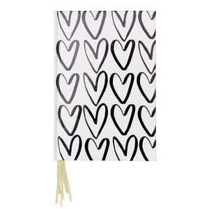 Caroline Gardner Heart Multi-Ribbon Notebook