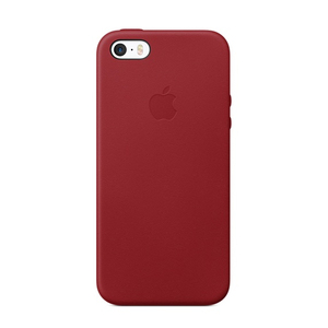 Apple Leather Case Red for iPhone SE