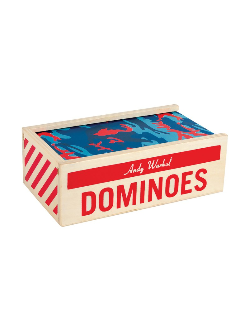 Mudpuppy Andy Warhol Wooden Dominoes