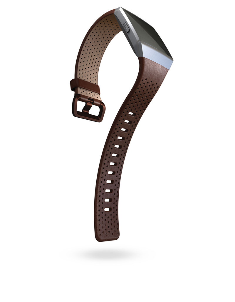 Fitbit Virgin Megastore Alta Plum Size Large Leather Band Cognac For Ionic