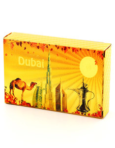 Dubai Skyscrapers Gold Foil Plated Playing Cards