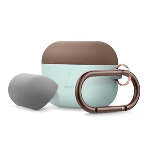 Elago Duo Hang Case Top Dark Brown/Medium Gray Bottom Mint for AirPods Pro