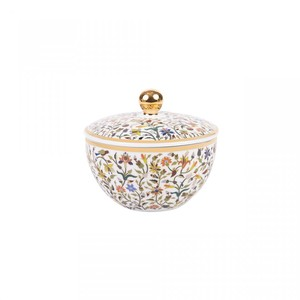 Silsal Majestic Sugar Pot with Gold 22 Carat Gold