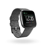 Fitbit Versa Special Edition Charcoal Woven Smart Watch