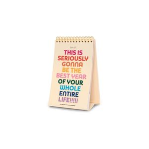 Ban.do Rainbow Colors Best Year Ever Desk Calendar