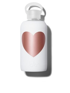 BKR Metallic Rose Winter Heart Water Bottle 500ml