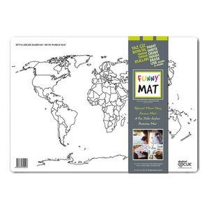 Funny Mat Activity Placemat Mute World Map