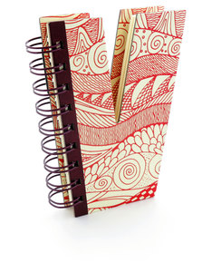 Alpha Note Books Mini Letter V