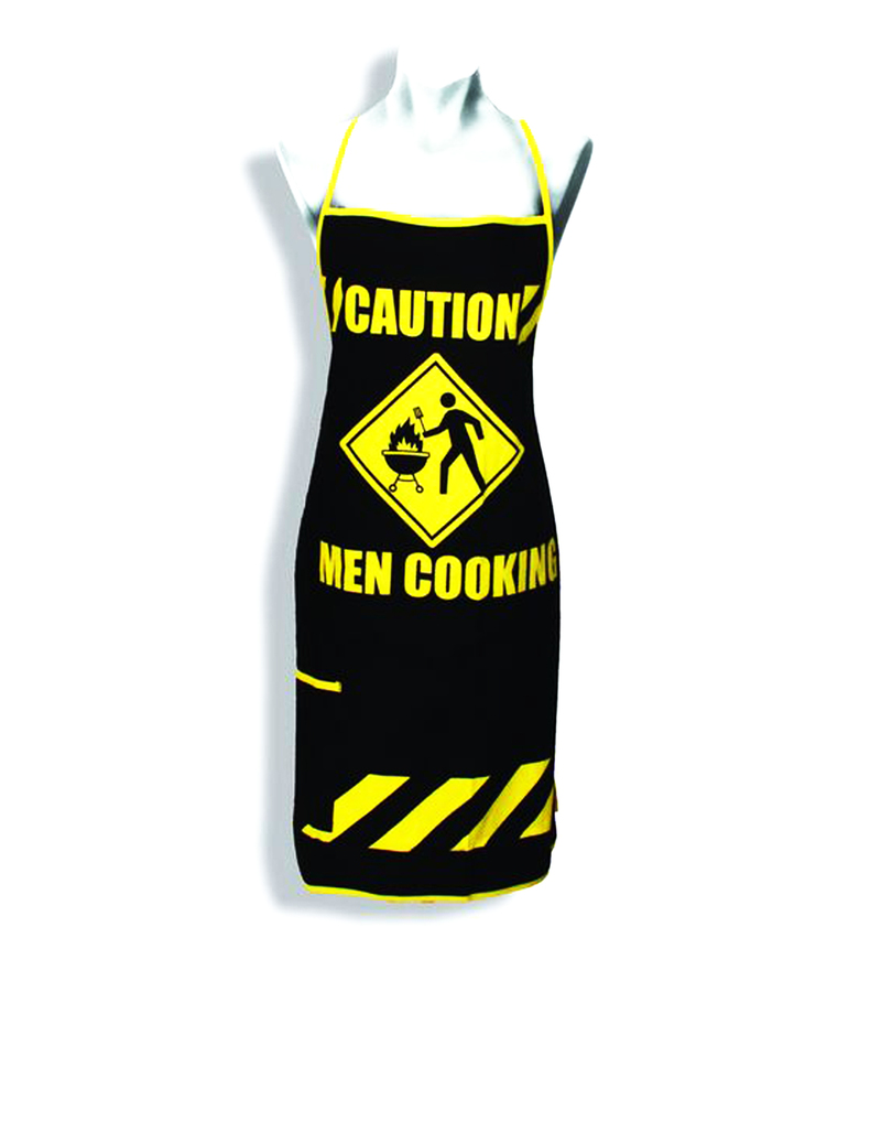 ea8ec95c31 Caution Men Cooking Apron | Aprons & Mitts | Cooking & Baking | Cooking &  Dining | House | Virgin Megastore
