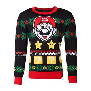 Difuzed Nintendo Super Mario Knitted Unisex Jumper