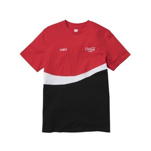 Staple Coca Cola Wave Men'S T-Shirt Red M