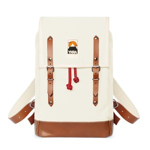 Ykra Matra Mini Leather Strap White Backpack