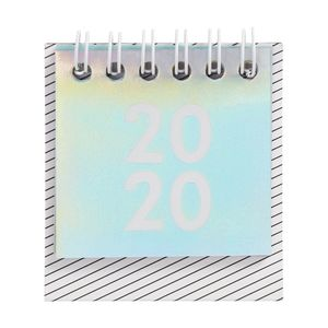 kikki.K 2020 Cute Mini Desk Calendar Be Kind Holographic