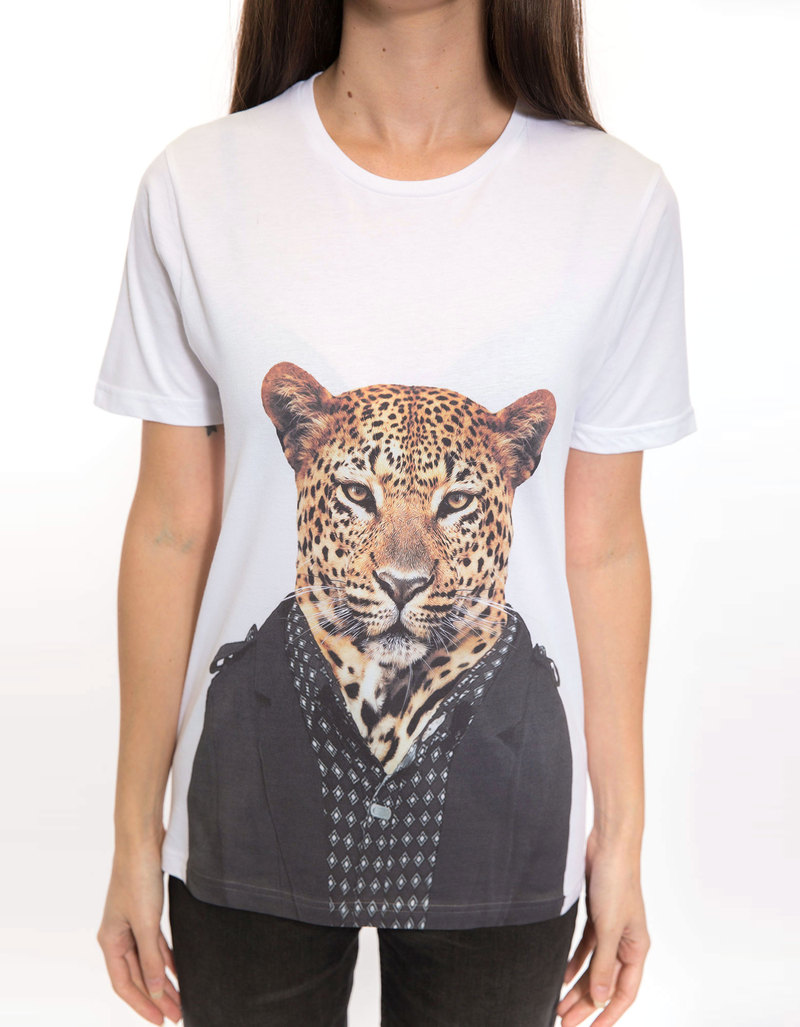 Saint Noir Leopard Men'S T-Shirt L