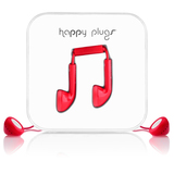 Happy Plugs Red Earphones