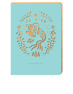 Portico Design Aquarius Zodiac Blue A6 Notebook