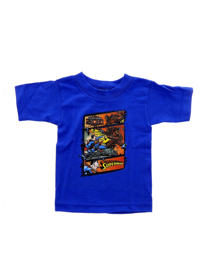 Superman Superman Vs Zod Royal Blue Toddler Tshirt 2T