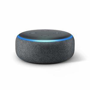Amazon Echo Dot Charcoal Fabric [3rd Gen]
