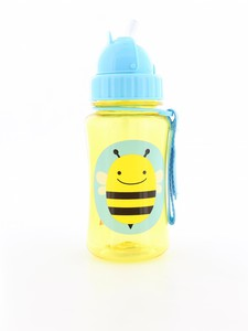 Skip Hop Zoo Straw Kids Water Bottle Bee 350ml