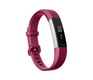 Fitbit Alta HR Fuchsia Heart Rate + Fitness Wristband [Large]