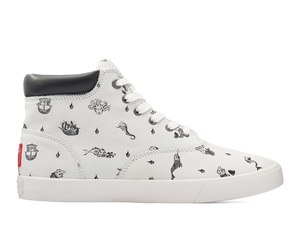 Bucketfeet Sailor Tales White Low Top Men's Leather Lace-Ups