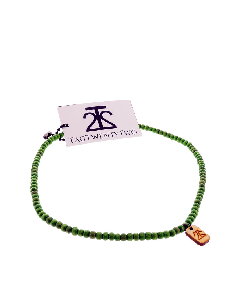 Tag Twenty Two Wraparound Bracelet In Green Bracelet