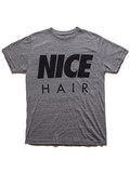 Alex & Chloe Nice Hair Heather Grey/Black Women's T-shirt