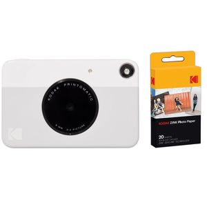 Kodak PRINTOMATIC Instant Digital Camera Grey + Zink Paper [Pack of 40 Prints]