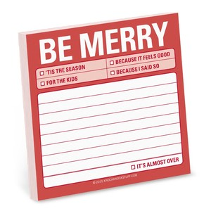 Knock Knock Be Merry Sticky Note