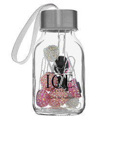 Ice London Glitter Ball Paperclip Jar Pink