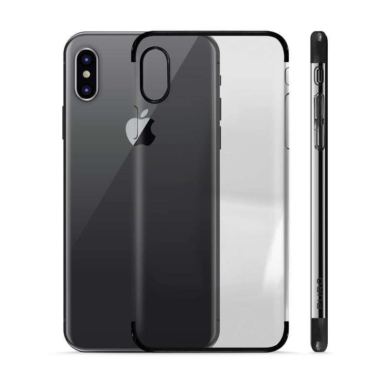 finest selection 4d155 3a3fe Puro Verge Case Clear Black for Iphone X