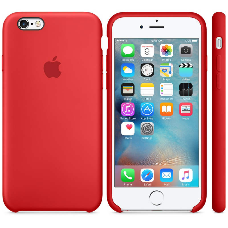Apple Silicone Case Red iPhone 6S