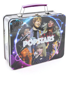 Top Trumps Popstars Card Game Collectors Tin English & Arabic